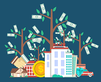Property management graphic of money tree